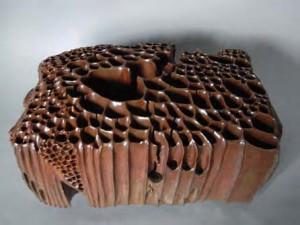 Shiro SHIMIZU ( sculpture porcelaine  recherches d'émaillage)