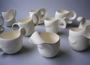 Yuri TAKEMURA (installations, porcelaine modelée)