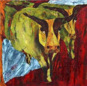La ferme I (50x50cm)